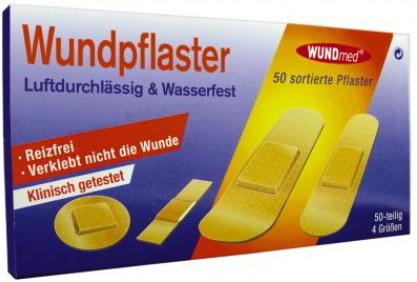 240637 WUNDPFLASTER MEGABOX 50 STÜCK IN 4 GRÖSSEN
