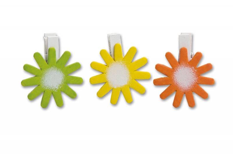 260203 Blume auf Clip 3er Set