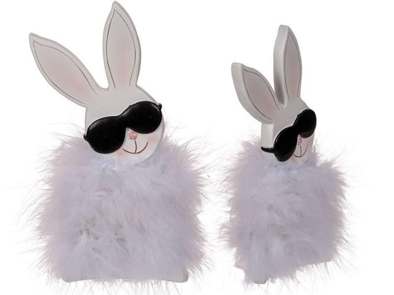 260238 Hase mit Federn & Sonnenbrille groß